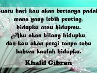 Kata Bijak Singkat Penuh Makna - Khalil Gibran