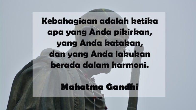 Kata-Kata Bijak Kehidupan - Mahatma Gandhi