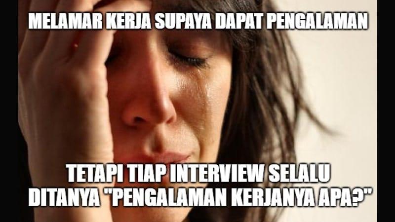 Kumpulan Meme Lucu Banget - Pengalaman Kerja