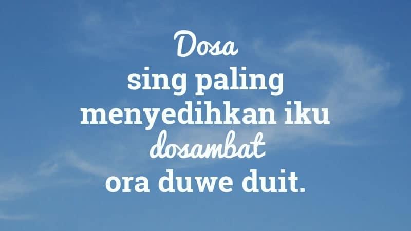 kata-kata lucu bahasa jawa - langit biru dan dosa