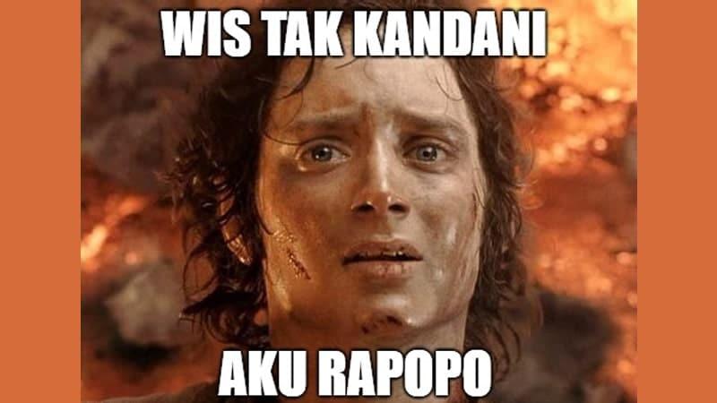 Meme Lucu Bahasa Jawa - Aku Rapopo