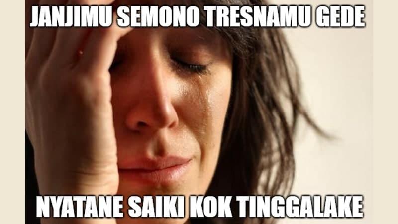 Meme Lucu Bahasa Jawa - Janjimu Gede