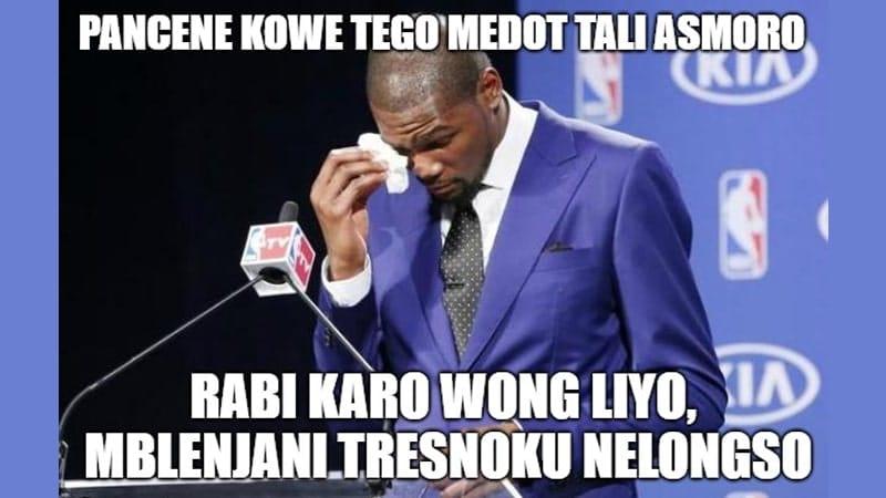 Meme Lucu Bahasa Jawa - Kowe Tego