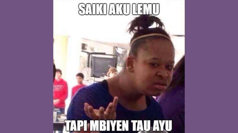 Meme Lucu Bahasa Jawa - Saiki Aku Lemu