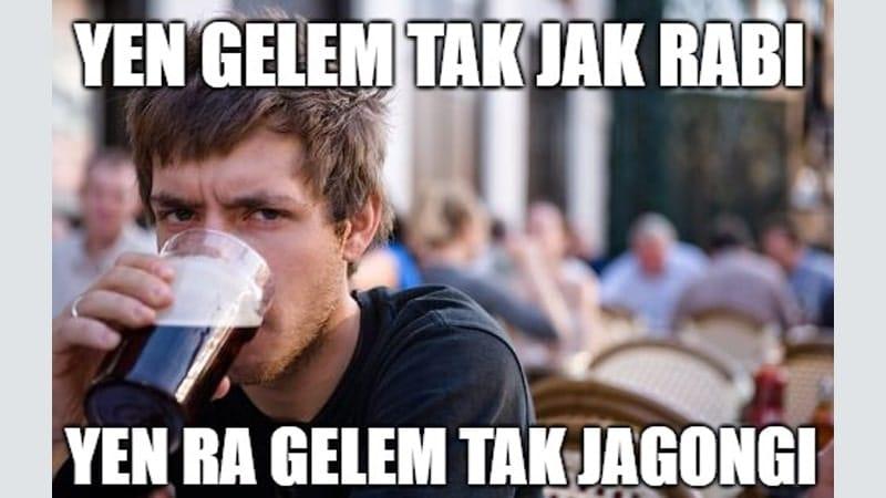Meme Lucu Bahasa Jawa - Tak Jak Rabi