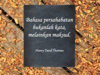 Kata-kata mutiara untuk sahabat - Kutipan Theoreau