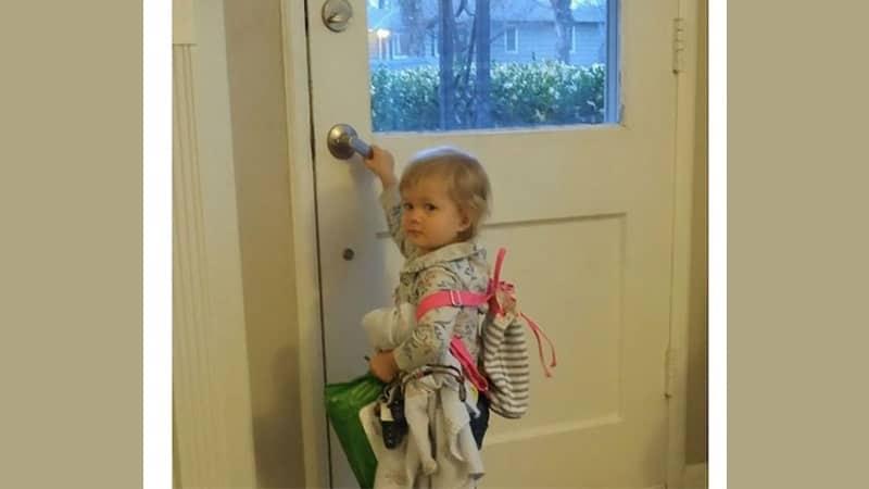Foto Anak-Anak Lucu - Balita Ingin Pergi dari Rumah