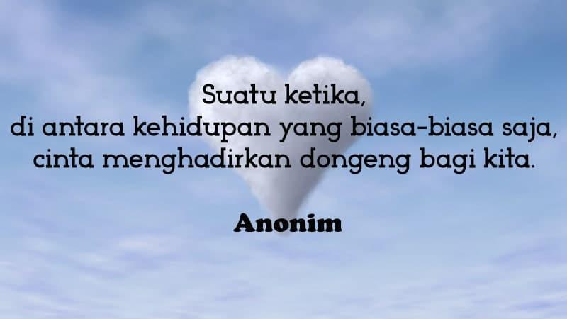 Kata-Kata Romantis Lucu - Anonim Cinta Bak Dongeng