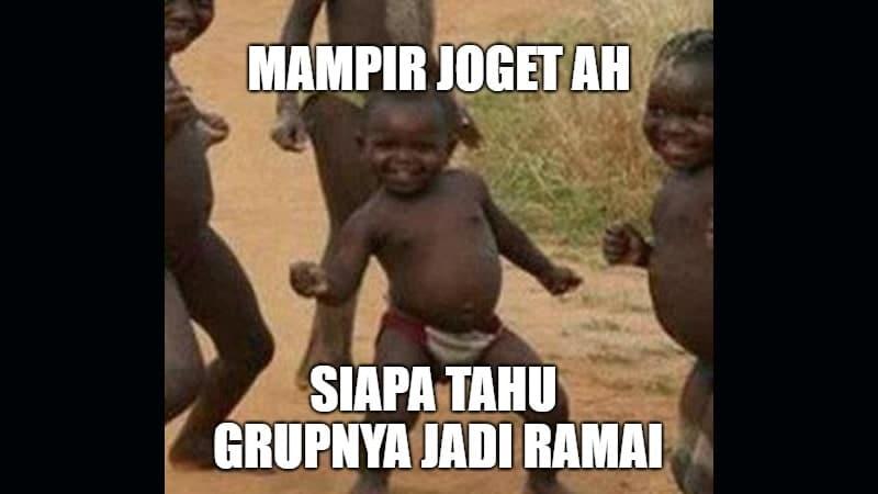 Meme Lucu Grup Sepi - Mampir Joget