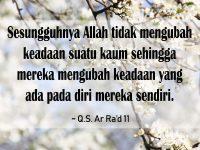 Kata-Kata Inspiratif Islami - Q.S. Ar Ra'd 11