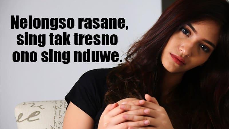 Status Galau Bahasa Jawa - Ono Sing Nduwe