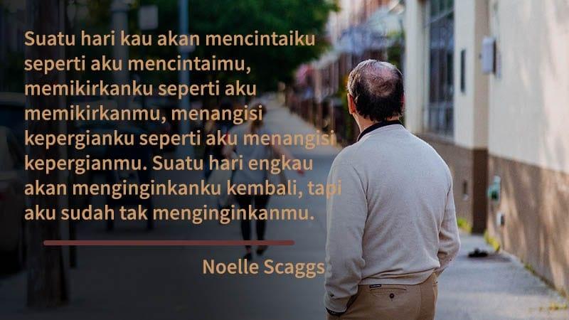 kata kata perpisahan cinta - noelle scaggs