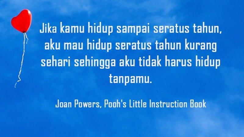 Kata-Kata Inspirasi Cinta - Joan Powers