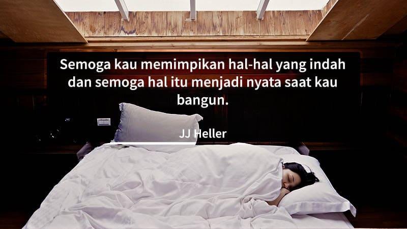 ucapan selamat tidur romantis - jj heller