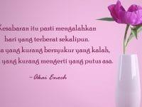 Kata Mutiara Bersyukur dan Bersabar - Akai Enoch
