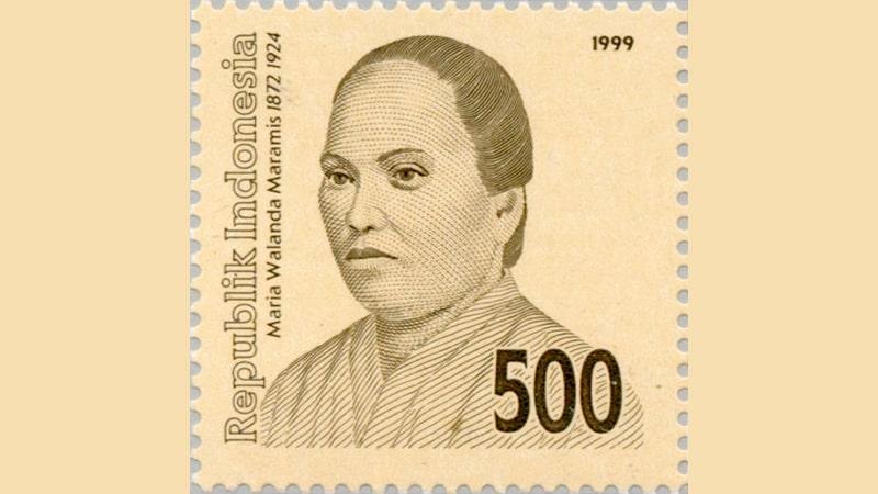 Biografi Maria Walanda Maramis - Perangko