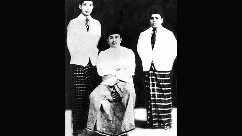 Biografi Buya Hamka - Buya Hamka bersama Natsir dan Isa Anshary