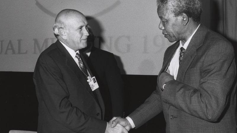 Biografi Nelson Mandela - Nelson Mandela dan Frederik de Klerk