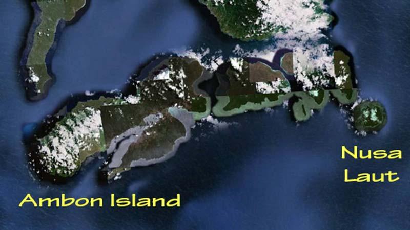 Peta Pulau Nusa Laut