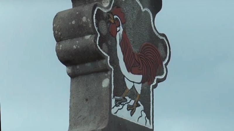lambang ayam di makam