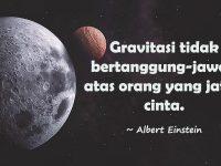 Kata-Kata Bijak Albert Einstein - Gravitasi dan Cinta